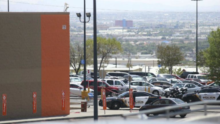 Estacionamiento del Centro comercial donde ocurrió el tiroteo