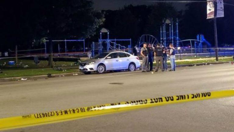 La zona acordonada en Chicago tras el tiroteo