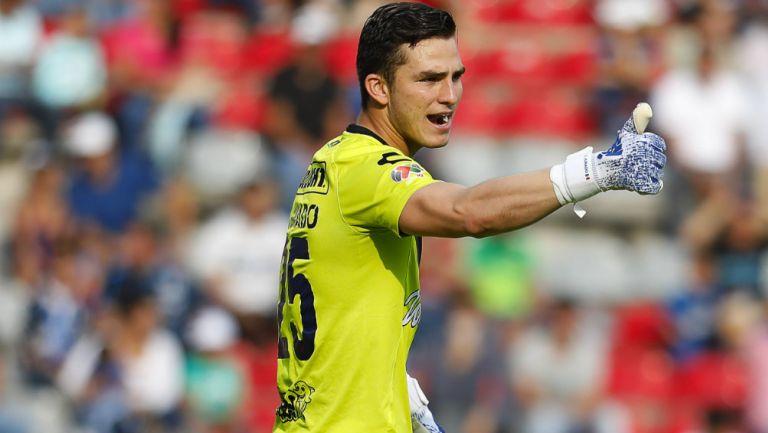 Sebastián Jurado durante un partido del Veracruz