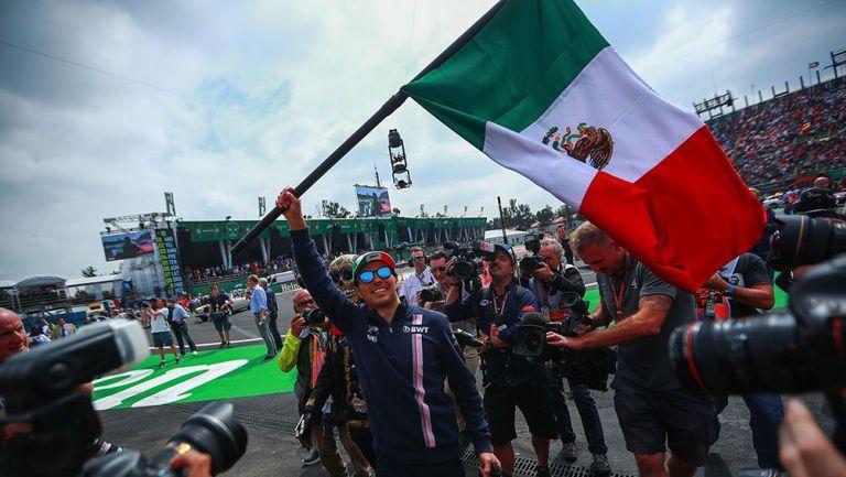 Checo Pérez en el Gran Premio de México