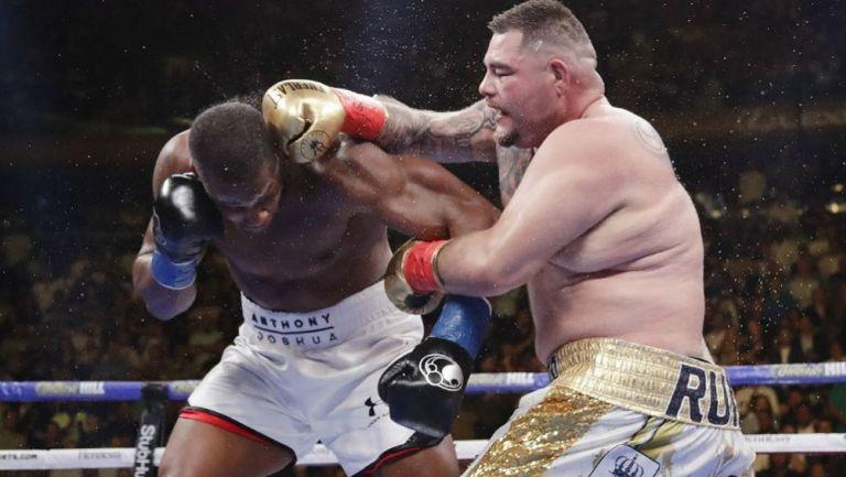 Andy Ruíz y Anthony Joshua, en su primer pelea
