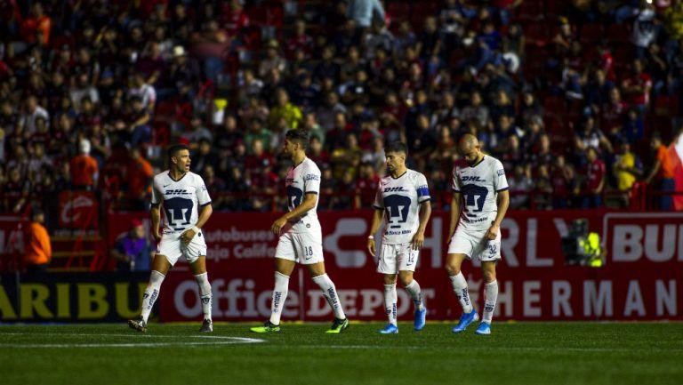 Jugadores de Pumas se lamentan tras derrota ante Xolos