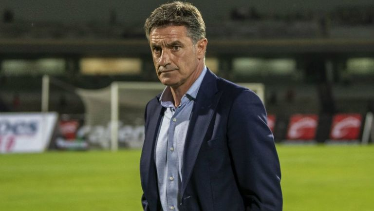 Míchel Gonzélez tras un partido en CU