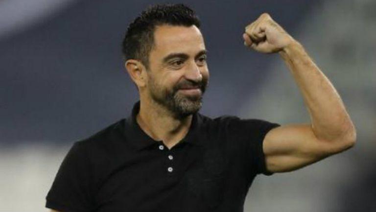 Xavi, festeja victoria