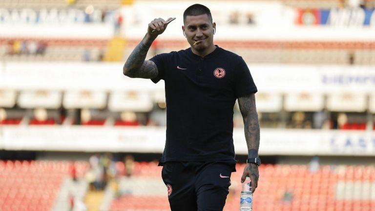 Nico Castillo previo a un partido con América