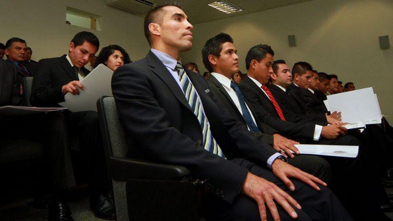 Marco Antonio Rodríguez, durante una conferencia