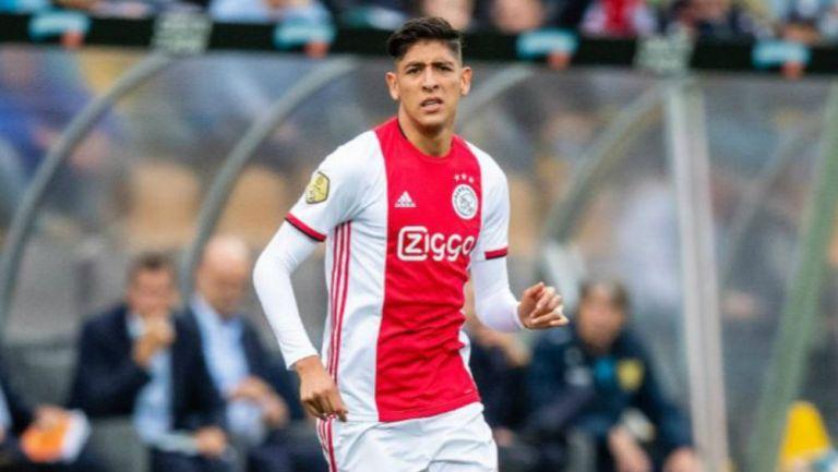 Edson Álvarez, en su primer juego con el Ajax en la Eredivisie