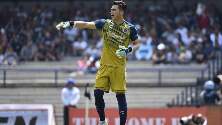 Sebastián Jurado, en el partido contra Pumas
