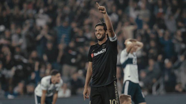 Carlos Vela celebra un gol con Los Angeles FC