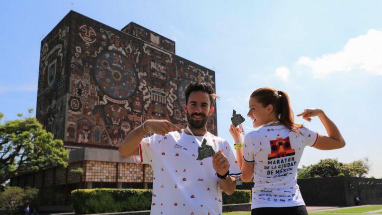 Presentación del evento en Ciudad Universitaria, lugar de inicio del maratón