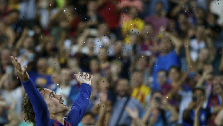Griezmann, en celebración con Barcelona
