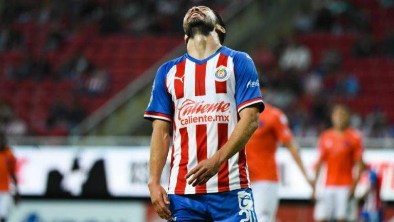Oribe, en lamento durante partido de Copa MX