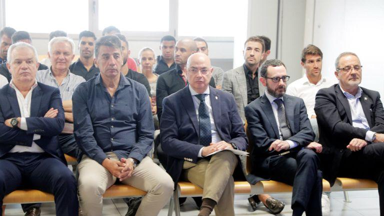 Javier Aguirre durante el juicio por posible amaño de partidos en España