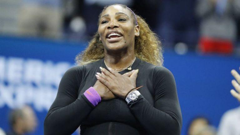 Serena Williams festeja tras vencer en Semifinales a Elina Svitolina