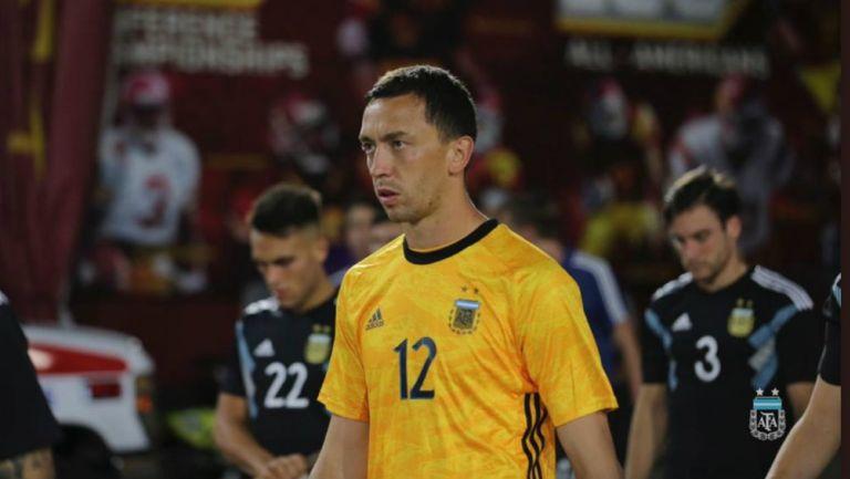 Agustín Marchesín durante un juego de Argentina