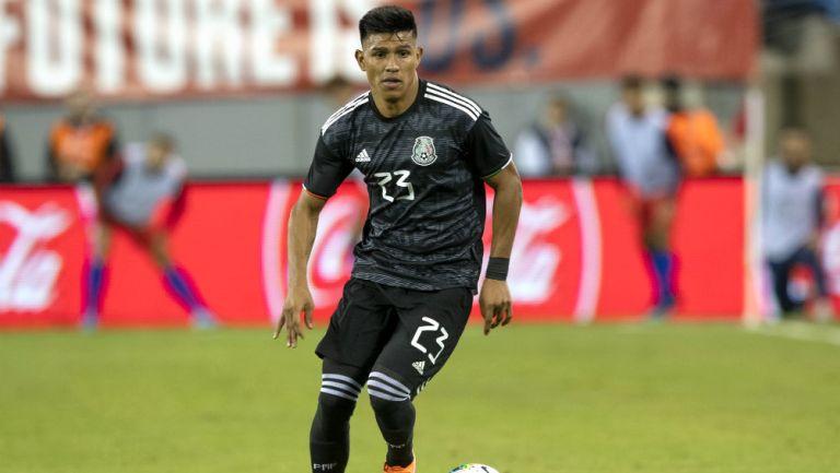 Jesús Gallardo durante un partido contra Estados Unidos