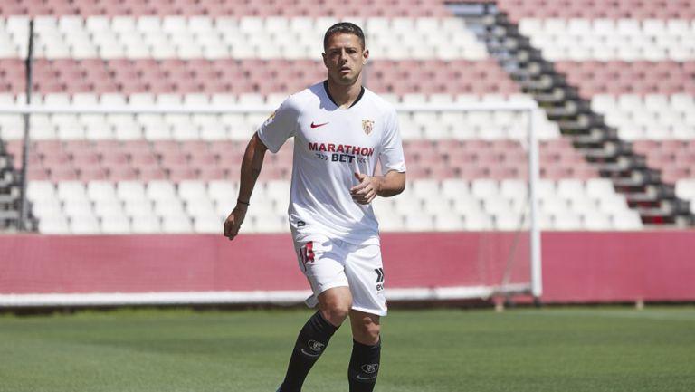 Hernández, durante su presentación con el Sevilla