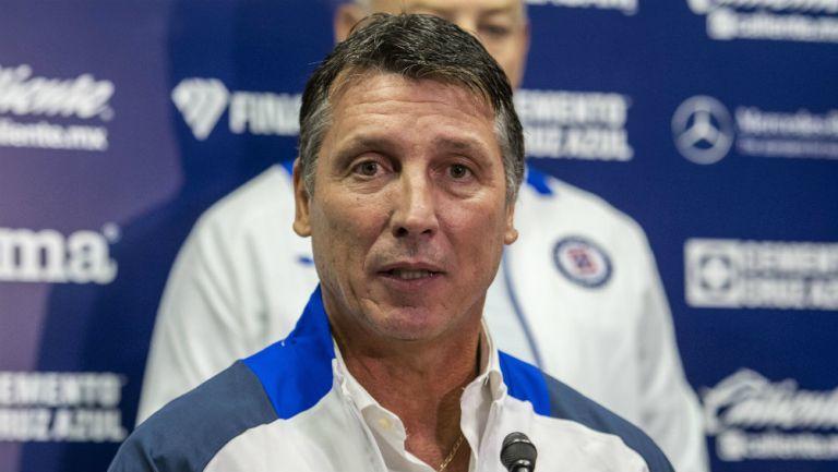 Robert Siboldi en su presentación como entrenador de Cruz Azul