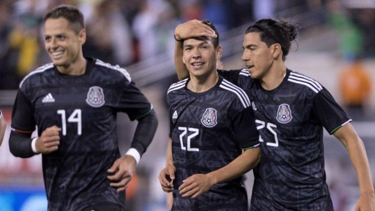 Chicharito, Lozano y Guti en el juego del Tri frente a EU