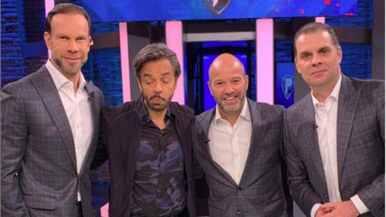 Eugenio Derbez, Luis García, Christian Martinoli y Zague