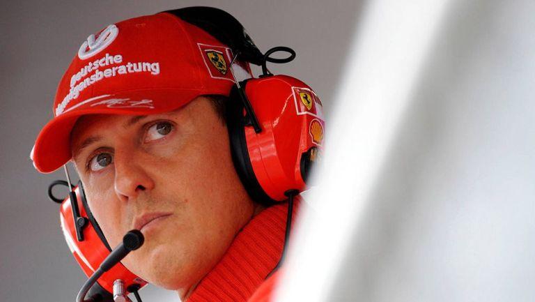 Michael Schumacher previo a una carrera de Fórmula Uno
