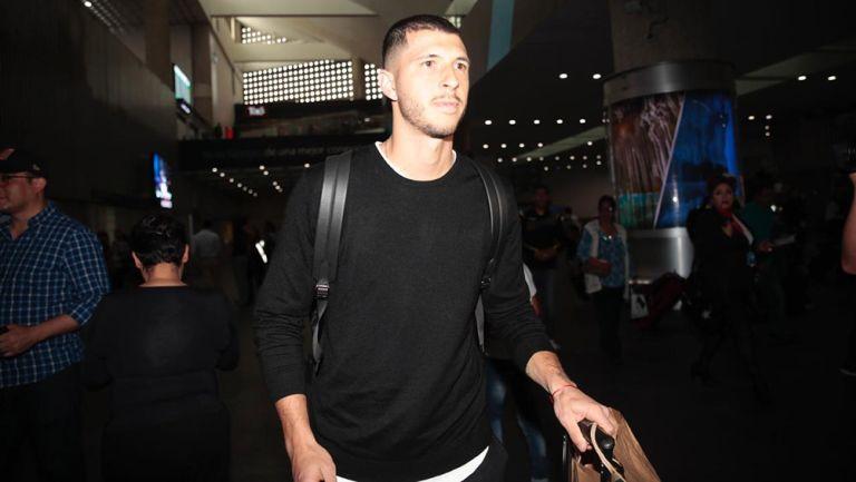 Guido, en su llegada al aeropuerto de la CDMX