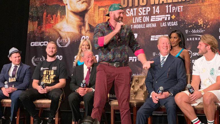 Tyson Fury, en conferencia de prensa