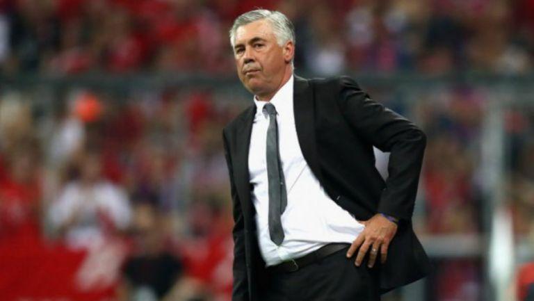 Carlo Ancelotti, se molesta tras el accionar de sus pupilos