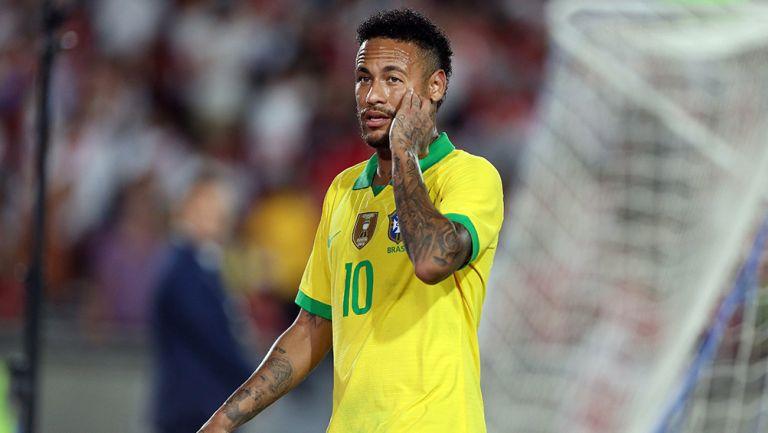 Neymar, durante juego de Brasil