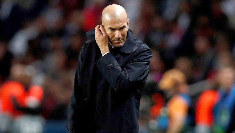 Zinedine Zidane en el partido contra el PSG