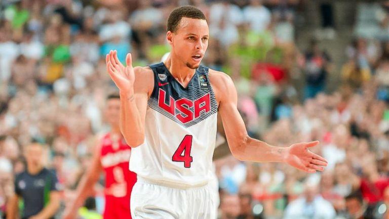 Curry, durante un partido de Estados Unidos
