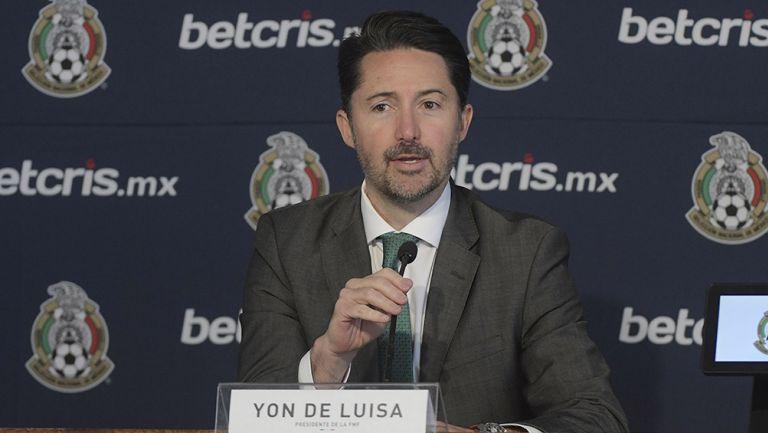 Yon de Luisa, en conferencia de prensa