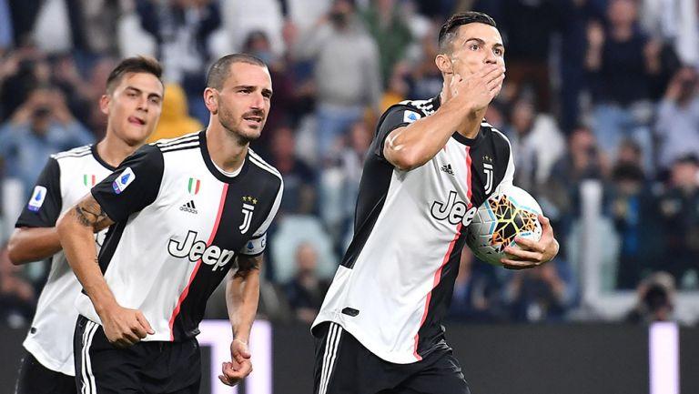 Cristiano Ronaldo festeja gol de la Juventus