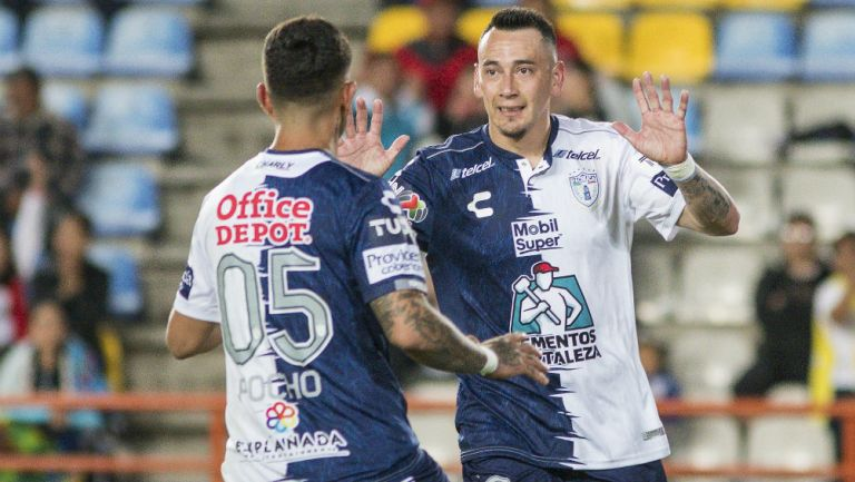 Rubens Sambueza celebra su gol ante el Tijuana