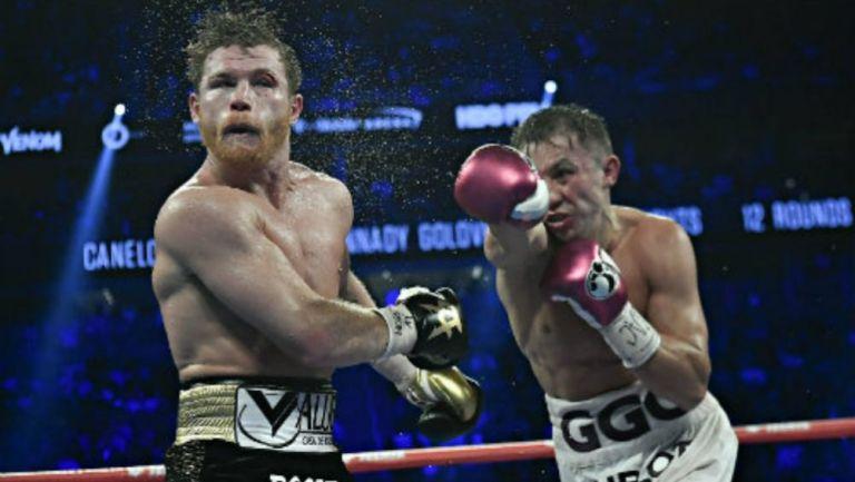 Acción en el combate entre Álvarez y Golovkin
