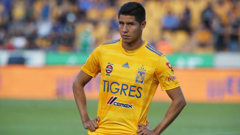 Hugo Ayala durante un partido de Tigres