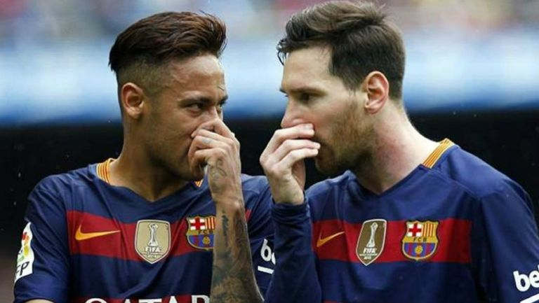 Neymar y Messi como jugadores del Barcelona