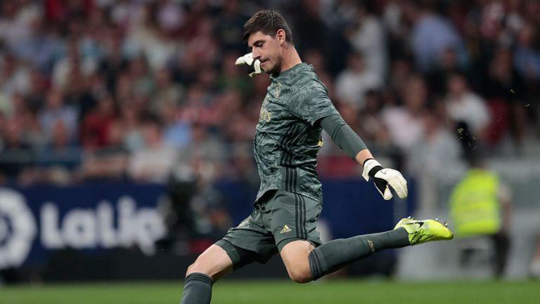 Thibaut Courtois, en un partido con el Real Madrid