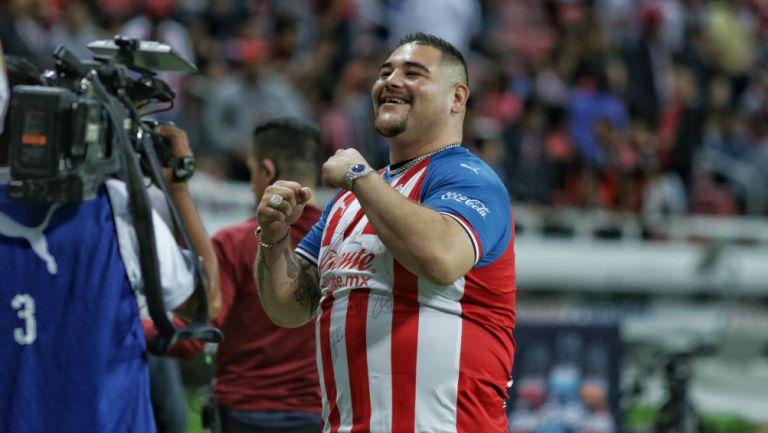 Andy Ruiz durante un juego del Guadalajara