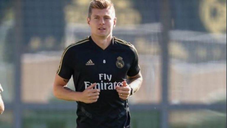 Kroos en entrenamiento con el Real Madrid