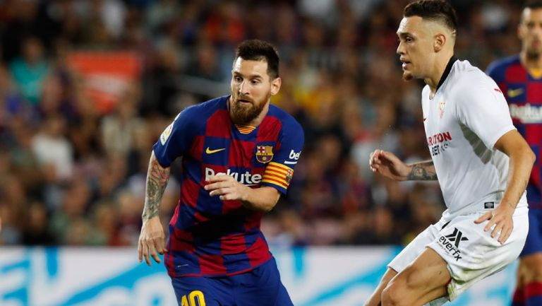Messi, durante un compromiso con el Barcelona