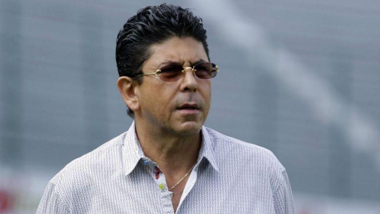 Fidel Kuri, en un entrenamiento de Veracruz
