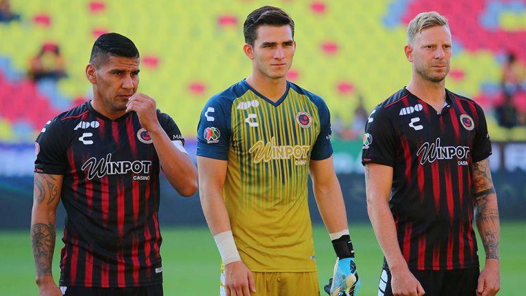 Jugadores de Veracruz al final de un partido