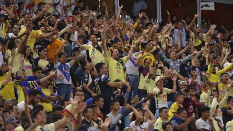 Afición de América, durante un partido