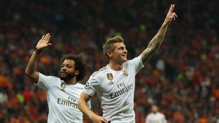 Toni Kroos festeja su gol contra Galatasaray