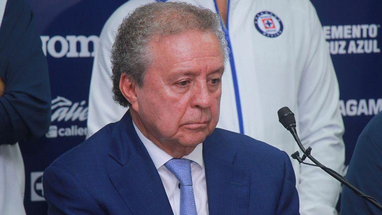 Víctor Garcés, en conferencia de prensa