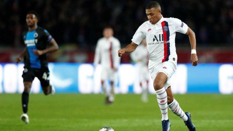 Kylian Mbappé, en el juego ante Club Brujas de Champions