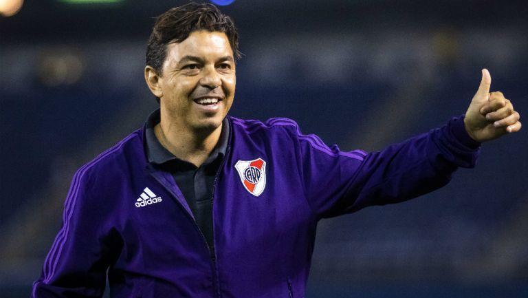 Marcelo Gallardo durante un juego de River Plate