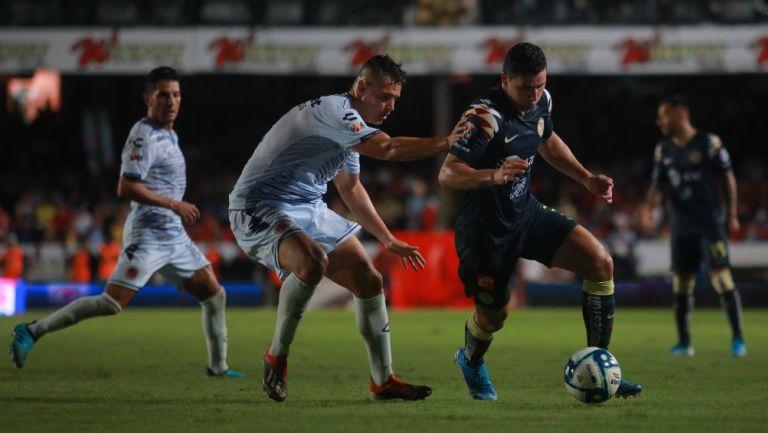 Jorge Sánchez en el partido Veracruz vs América