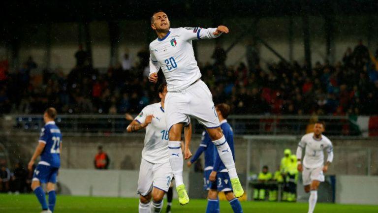 Bernardeschi, durante un partido de Italia